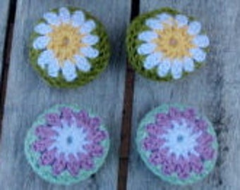 Dollhouse pillows crocheted set of 2