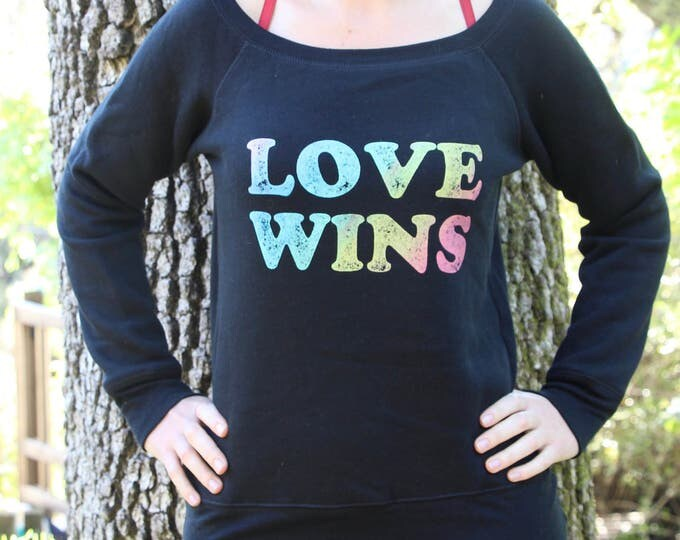 LOVE WINS Fleece Sweatshirt