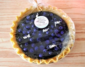 """9"""" Life Sized PIE Candle - Apple, Cherry, Blueberry or Pecan *Looks and Smells REAL*"""