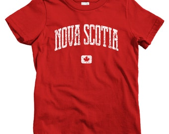 Kids Nova Scotia Canada T-shirt - Baby, Toddler, and Youth Sizes - Nova Scotia Kids Tee, Gift, Halifax, Sydney, Nova Scotian, Dalhousie Kids