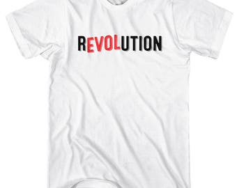 Love Revolution T-Shirt - Men and Unisex - XS S M L XL 2x 3x 4x - Revolucion Shirt, Revolt Shirt, Resist Shirt, Protester Shirt, Protest Tee