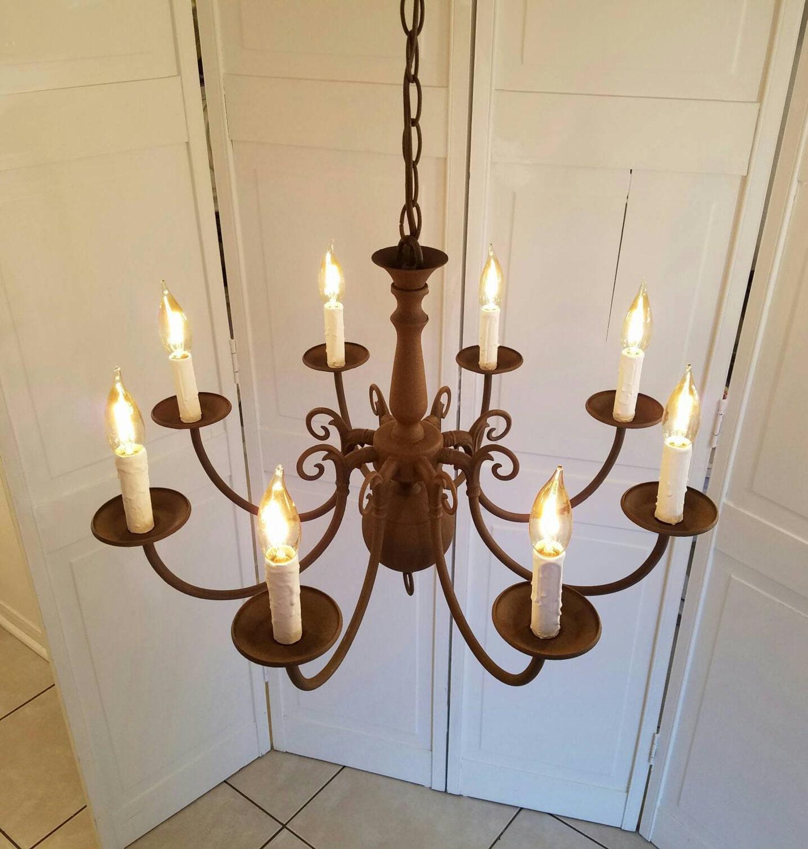 Chandelier Medieval Sml Rustic 8 Light By Liveabundantly
