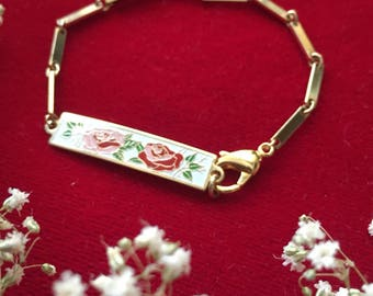 One of a kind Gypsy Rose collection id bar bracelet