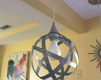 Metal Sphere Swag Light