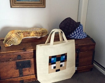 Dan TDM Bag The Diamond Minecart Youtube Hero Stampy Tote Minecraft Party Tote