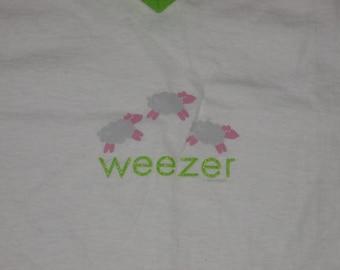 Rare NOS Vintage 1995 Weezer Sheep Indie Rock T Shirt