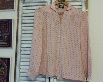 Vintage 1960s tiny rosebud blouse