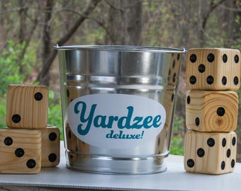 20 GAMES. Yardzee deluxe. Kids games included, all ages gift, Wedding games for guest, giant dice yahtzee Farkle outdoor lawn yard games