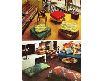 Pillow Pattern, Cushion Pattern, Simplicity 5718, UNCUT, Throw Pillow, Box Cushion, Knife Edge Pillow, Box Edge Pillow, Seventies Pattern