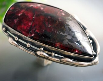 Eudialyte Sterling Silver Stone Ring
