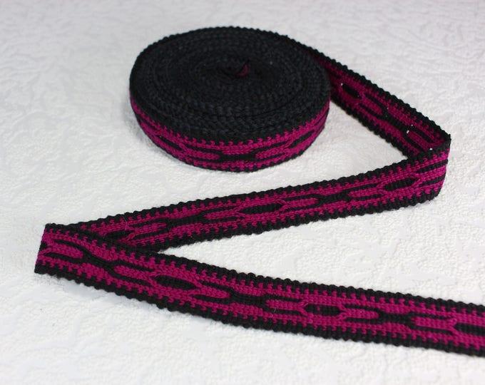Woven Trim (6 yards), Woven Border, Cotton Ribbon, Grosgrain Ribbon, Dress Border, Border Trim, Ikat Fabric, R273