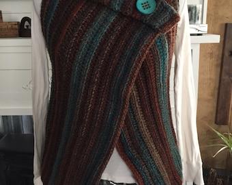 Crocheted Wrap Vest