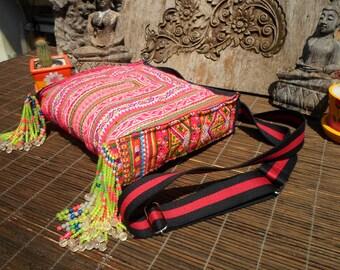 Vintage Textile Bag, Handmade Up cycled Shoulder Bag, Textile Shoulder Bag