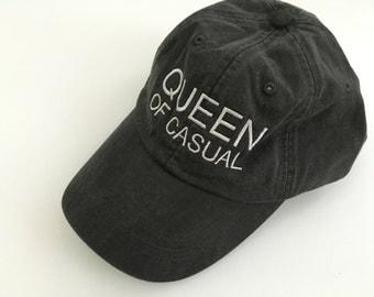 QUEEN OF CASUAL dad hat in black