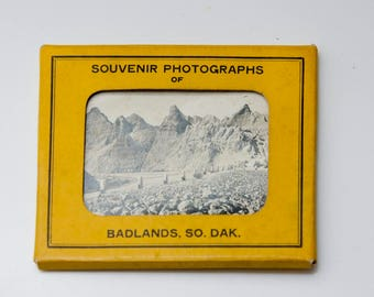 Vintage Souvenir Photo Pack: Badlands South Dakota Rapid City | 10 Black and White Photographs | Loop Road | Kitsch Anniversary Trip Ideas