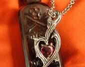 ON SALE NOW Vampire Jewelry - Vampire Heart Necklace - Thorn Necklace – Goth Necklace – Silver Thorn Necklaces – Branch Necklace – Vampire j