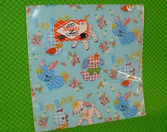 Vintage Whitman Baby Wrapping Paper-Mid Century Baby Wrapping Paper-40's 50's Baby Wrapping Paper Vintage Baby Gift Paper-Whitman Paper