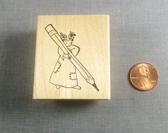 Little Lady Write Me a Letter Rubber Stamp