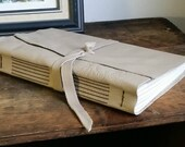 Large Leather Journal, Light Taupe, Hand-Bound 6 x 9 Journal by The Orange Windmill on Etsy 1607