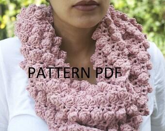Comm Ave Cowl Pattern PDF - Not actual Scarf - Crochet Pattern PDF