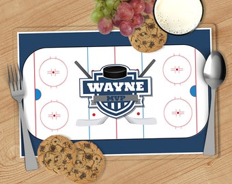 Hockey - Kids Personalized Placemat, Customized Placemats for kids, Kids Placemat, Personalized Kids Gift