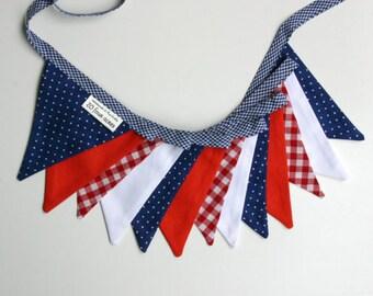 Custom Order for Susie - Mini Fabric Bunting - Nautical Theme - Photo Prop, Party Decor, Photobooth, Nursery Decor