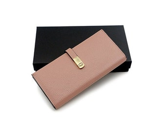 Calf Leather Wallet - Pink