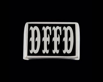 Stainless Steel DFFD Letter Ring - Free Re-Size/Shipping