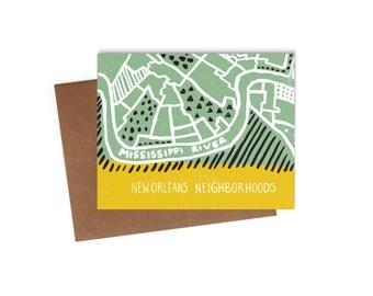 New Orleans Neighborhoods - Blank Card - Digitally Printed A2 Cards w/ envelope