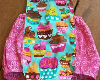 Cupcake Bubble Romper - 18-24 months - READY TO SHIP