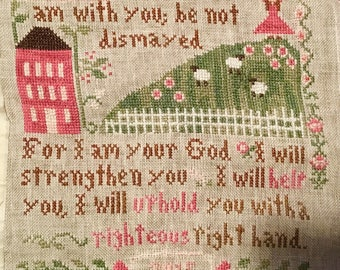 Fear Not...Little House Cross Stich-Completed