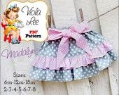 Madalyn PDF Toddler Skirt Pattern. Girls Skirt Patterns. pdf Sewing Patterns, Baby Skirt Pattern. Ruffle Skirt Patterns, Baby Sewing Pattern