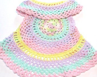 Pastel crochet circle vest.  Ready to ship toddler spring circle sweater.  Pastel colors.  Hippie boho baby toddler.