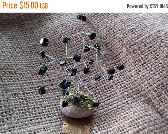 On Sale At Etsy The Blackstone Gemstone Tree, Silver Wire Wrapped, Mounted on a Natural River Stone, Great Gift, Christmas, Mom, Dad, Sister