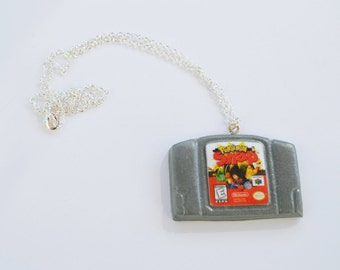 READY TO SHIP, Pokemon Snap N64 Cartridge Necklace