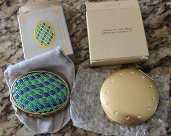 Vintage  Avon Compacts Jeweled and Powder Pack