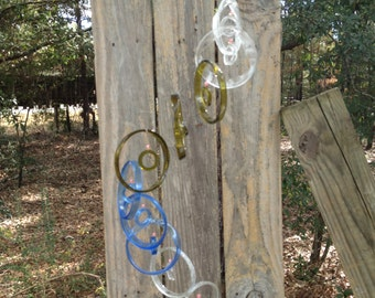 GLASS WINDCHIMES from RECYCLED bottles, eco friendly, mix bottles, garden decor, wind chimes, mobiles, musical, windchimes