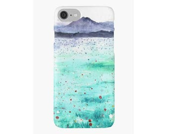 Mountain Landscape Art iPhone Case iPhone 4 5s 5c 6 6s 7 Plus Cover Hard Case Unique Stylish Painting Design Watercolor iPhone Case