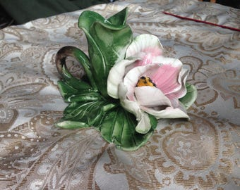 Capodimonte Italy Taper Candle holder FREE US SHIP
