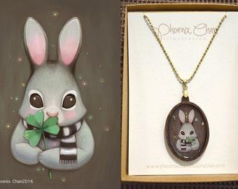 Rabbit Resin Pendant Necklace