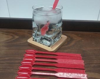 Vintage Swizzle Stick Collection: Stardust Hotel Las Vegas, Set of 10 Plastic Swizzle Sticks - Vintage Barware, Mixologist, Cocktail Hour
