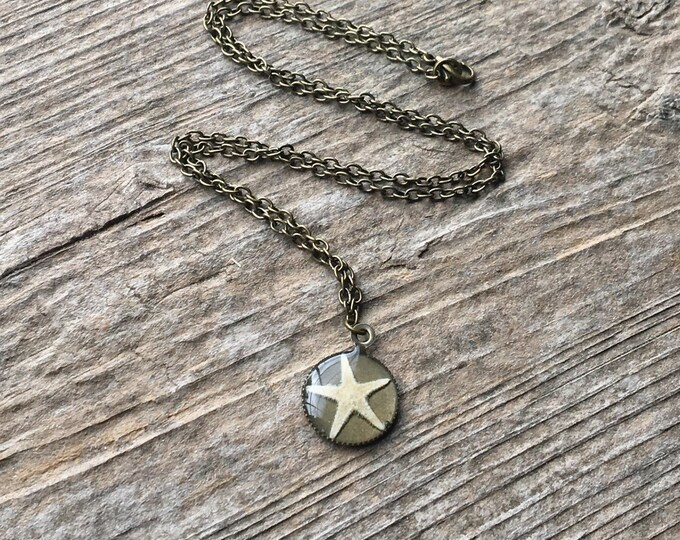 Real Starfish Nature Jewelry Necklace