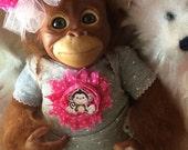 Baby Monkey Orangutan Newborn Size 16 inch Baby Trixie