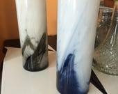 RESERVED Libbey Marbelique 9in Cylinder Vases