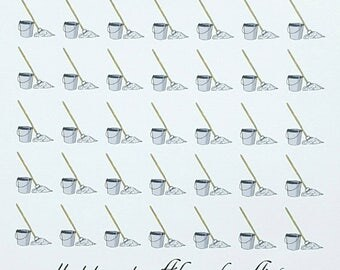 Mop and Bucket Planner/Journal/Bullet Journal Stickers