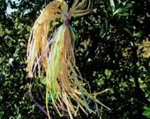 Handmade Spring Equinox / Ostara Garden Faerie.  Positively Pagan Nature Spirit Corn Dolly.