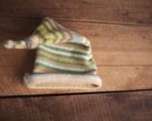 Boys Photography Prop Sleepy Knit Hat Stripe OOAK