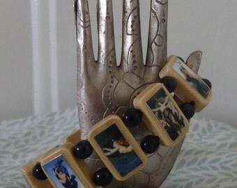 Nyx Devotional Bracelet.  Pagan Polytheist Hellenist Jewelry.