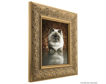 """Craig Frames, 22x32 Inch Gold and Bronze Picture Frame, Borromini, 3.5"""" Wide (94722232)"""