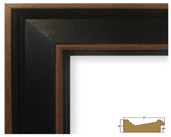 Craig Frames, 17x22 Inch Black Hardwood Picture Frame, Country ...